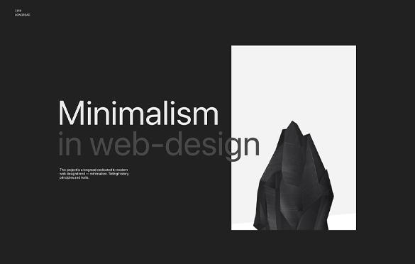 طراحی مینیمال وب سایت