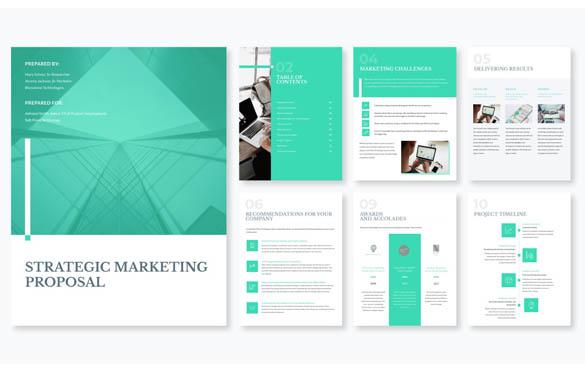 قالب پیشنهادی بازاریابی استراتژيک